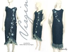 """Hochzeitskleider - gesticktes Unikat-Kleid """"Virgin"""" - ein Designerstück von Netzwerke bei DaWanda"""