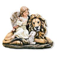 ANGEL WITH LION AND LAMB