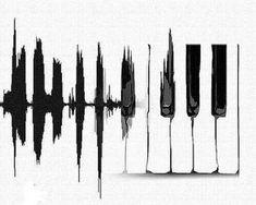 Piano heartbeat Watercolor