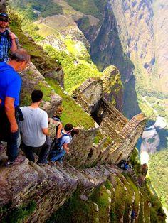 The Deadly stairs machu picchu, peru.