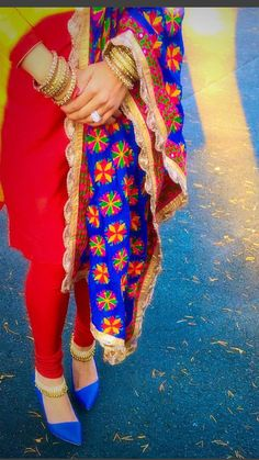 nothing like a phulkari! email sajsacouture@gmail.com for this stunner Indian Suits, Punjabi Suits, Indian Dresses, Indian Look, Indian Wear, Chandigarh, Indian Engagement Photos, Suits For Women, Ladies Suits