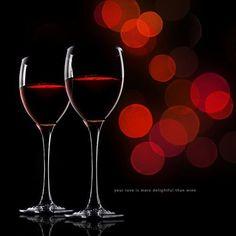 *dazzling red wine