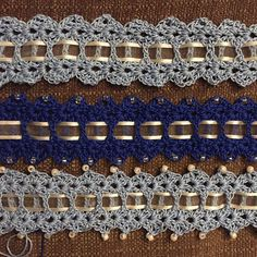 Something Blue bride's garter, free pattern by Emma L. Willey; pic from Ravelry Project Gallery . . . . ღTrish W ~ https://www.pinterest.com/trishw/ . . . .