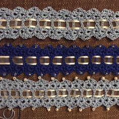 Something Blue bride's garter, free pattern by Emma L. Willey; pic from Ravelry Project Gallery . . . . ღTrish W ~ https://www.pinterest.com/trishw/ . . . .