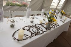 Barbwire Country Western Table Setting