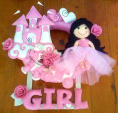 felt wreath for babygirl