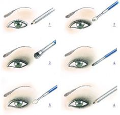 Simple eye make-up instruction