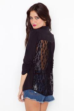 Lace Back Blazer - StyleSays