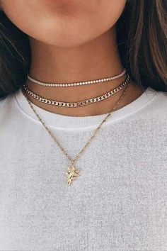 Rose Hangers Multi-layer Diamond Chain Necklace Set - picture for you Layered Choker Necklace, Cute Necklace, Diamond Pendant Necklace, Diamond Necklaces, Diamond Earrings, Diamond Jewelry, Crystal Earrings, Silver Earrings, Gold Choker
