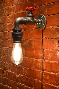 Wall Light - Industrial light - Steampunk Sconce - Steampunk light - Industrial Sconce - Sconce - Lighting - Vanity Light - Bar Light - My best home design list Industrial Wall Lights, Industrial Light Fixtures, Rustic Lighting, Sconce Lighting, Vintage Lighting, Bar Lighting, Lighting Design, Lighting Ideas, Industrial Chic
