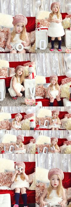 Valentine / Love / Styled / Photography / Child Photography / Prop & Pose Ideas