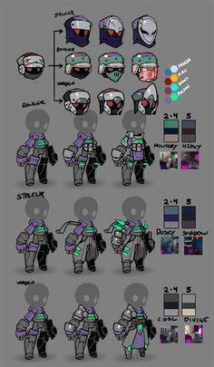 Spiral Knights: Gunner Armor Roughs by Malakym