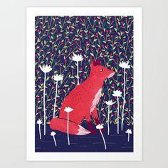 The Garden Art Print by Littleclyde | Society6