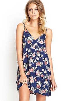 Will transition nicely through seasons. Enough room for your tummy but so cute!! Rose Print Slip Dress | FOREVER 21 - 2000068819