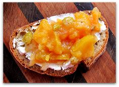 quince chutney on bread