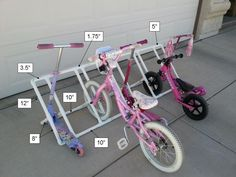 Child's PVC Bike Rack Dimensions