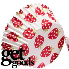 160 Large Strawberry Muffin Cupcake Greaseproof Cup Cake Paper Liners Cases
