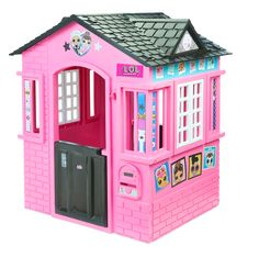 Indoor and Outdoor Cottage Playhouse with Glitter L. Indoor and Outdoor Cottage Playhouse with Glitter, Multi-ColoredL. Indoor and Outdoor Cottage Playhouse with Glitter, Multi-Colored Build A Playhouse, Playhouse Outdoor, Wooden Playhouse, Outdoor Toys, Indoor Outdoor, Pink Playhouse, Indoor Camping, Little Girl Toys, Toys For Girls