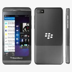 3D Blackberry Z10 Model - 3D Model