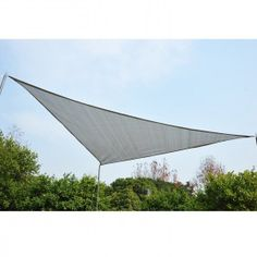 Toldo Vela Sombrilla Parasol Triangulo HDPE 185g/m2 Jardin Playa Camping Sombra Color Gris