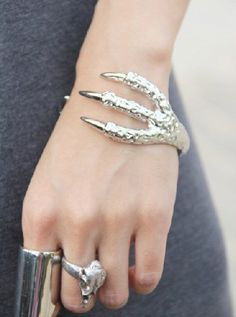Lol! Love this although it reminds me of chicken feet. Eagle Claw Cuff dresslily.com