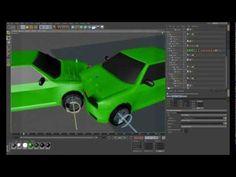C4D collision cars dynamics + mesh - YouTube