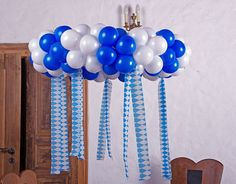 Balloon decoration set: EASY-FIX-MINI Oktoberfest wreath 100 cm Whether from the ceiling or as a wall decoration, this balloon wreath in white blue is a great decoration for Diy Wedding Bar, Diy Wedding Decorations, Balloon Decorations, Birthday Decorations, Balloon Ideas, Shower Party, Baby Shower Parties, Balloon Wreath, Balloon Crown