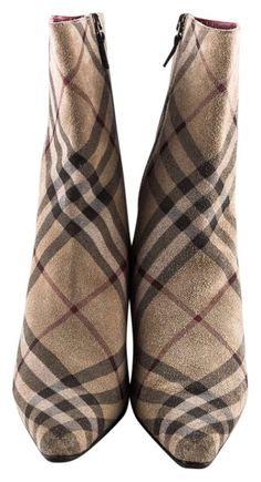 Burberry Ankle Nova Plaid Boots. Get the must-have boots of this season! These Burberry Ankle Nova Plaid Boots are a top 10 member favorite on Tradesy.