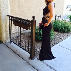 Black prom dress ‼️Super elegant prom dress.‼️Worn once for a few hours. No damage at all. Come from a pet/smoke free home. Recently dry cleaned! Only alterations done were on the back straps, adjusted to fit, stitching can be taken out if wanted. No sequence missing, comes with extra sequence just in case. It is long, I'm 5ft and wore 5in heels. Bee darlin  Dresses Prom