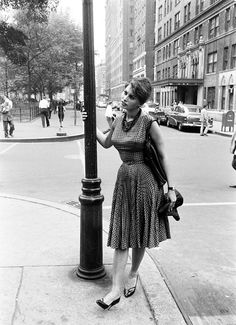 Peter Stackpole - Sophia Loren On Washington Square North & MacDougal Street, NYC, 1958.