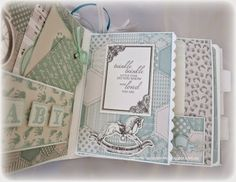 Sew Creative: Baby Boy Mini Album Using Project Life Cards ~ Plus a Video Walk Through ~