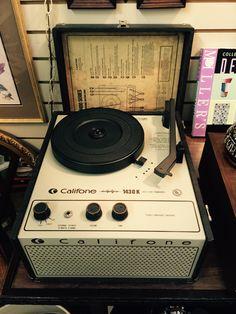 Vintage Califone 1430K Portable Phonograph Turntable Record Player