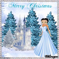 christmas betty boop for facebook | BETTY'S BLUE CHRISTMAS Picture #103762420 | Blingee.com