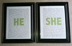 Personalized He/She Boards