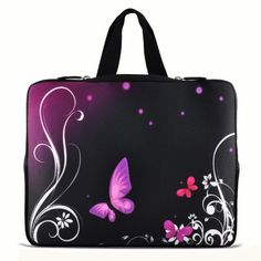 """Purple butterfly 11.6"""" 12.1"""" inch Notebook Carrying bag Laptop Sleeve Case with Hide Handle for Samsung Chromebook/DELL Latitude E6230 XT2 XPS Duo/ASUS B23 /HP 4230S 2560P/TOSHIBA U920T/intel Letexo ChaoDa,http://www.amazon.com/dp/B008713GPA/ref=cm_sw_r_pi_dp_f97Nsb0NT3VPMTSV"""