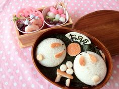 お弁当 - usagi and dango bento
