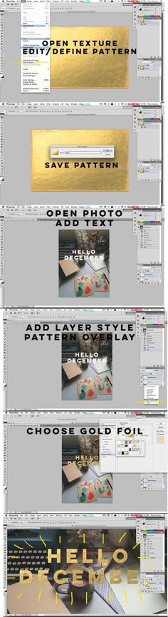➡ Adding gold overlay to a text in Photoshop. ➡ Wie man in Photoshop einen goldenen Text erstellen kann