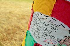 Shambala '11 - knitted graffiti