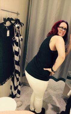 Ugly white see through pants, check. Horrible leg ripples, poor pocket placement increasing bum length ratio...check! No...way!