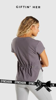 991a76d7e1af Go simple with the Slounge Cinched Tee in Slate Lavender. A style for your  rest