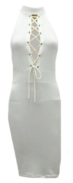 NQ Women's Summer Halter Bangdage Front Cross Sleeveless Dress ** Details can be found by clicking on the image. (This is an affiliate link and I receive a commission for the sales)