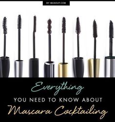 When it comes to mascara we want volume and lift, incredible length, thickness and curl and, of course, a shiny black finish. Here is a simple guide on all you ever needed to know about mixing mascaras for the perfect cocktail! Mascara Tips, Best Mascara, How To Apply Mascara, How To Apply Makeup, Applying Mascara, Makeup Tips, Beauty Makeup, Eye Makeup, Makeup Tutorials