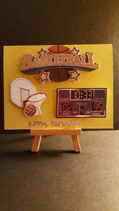 Basketball Birthday Card www.etsy.com/shop/jengirlsdesigns #etsy #jengirlsdesigns #handmade #handmadecard #card #greetingcards #birthday #birthdaycard #happybirthday #birthdaywishes #etsyshop #etsystore #etsysellers #etsyseller #etsyshoppers #etsyfinds #etsyusa #papercrafts #papercrafting #cardmaking #makeawish #basketball