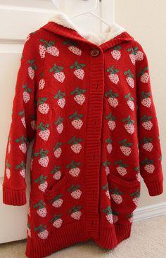 Strawberry sweater.