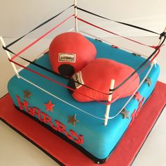 Boxing ring cake (1)