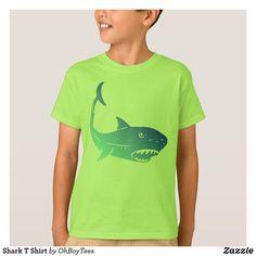 Shop Shark T Shirt created by OhBoyTees. Shark T Shirt, Closet Staples, Green Fashion, Vintage Looks, Cool T Shirts, Cool Kids, Fitness Models, Unisex, Tees