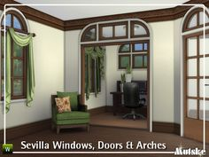 Sims 4 CC's - The Best: Sevilla Windows, Doors and Arches by Mutske