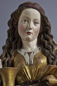Niclaus Gerhaert von Leyden (1430–1473)  Saint Mary Magdalene, Strasbourg, 1462, detail  Walnut, h. ca. 150 cm, w. 61.5 cm, d. 45.5 cm  Protestant Parish Church of St George, Nördlingen  Photo: Rühl & Bormann  © Liebieghaus Skulpturensammlung, Frankfurt am Main