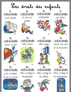 Les droits de l'enfant Teaching French, Learn French, Classroom Management, Social Studies, Art History, American History, Animation, Comics, Learning
