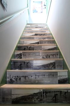 sunset mag seabrook brian paquette stairs, #DIY staircase, vintage beach photographs